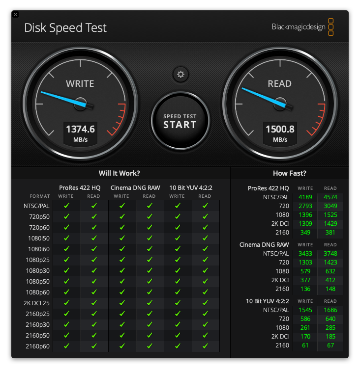 Speed Test NVMe MBP 13